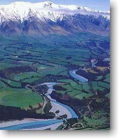 The Rakaia river, highly regarded as a quality salmon river