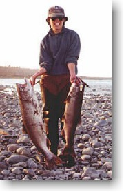 Salmon success on the Rakaia river