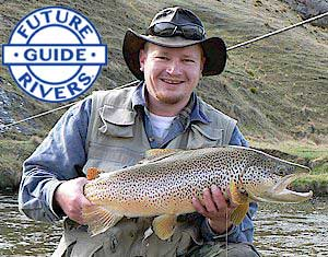 Michael enjoying himself with a top Southland Trout