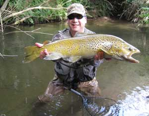Trophy Brown Trout from Miles's secret stream